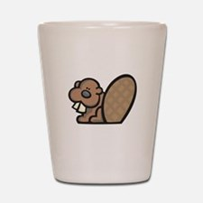 Cute Little Beaver Shot Glass