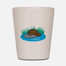 Silly Platypus in the Water Shot Glass
