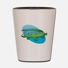 Cute Swimming Crocodile/Allig Shot Glass