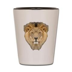 African Lion Shot Glass