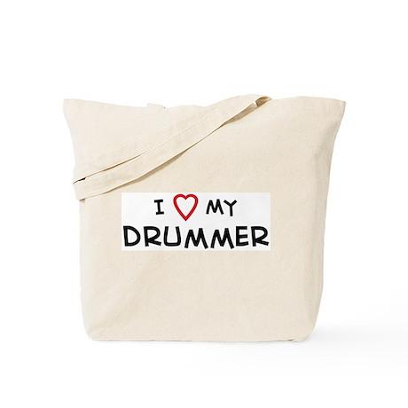 I Love Drummer Tote Bag