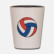 Red, White and Blue Volleybal Shot Glass