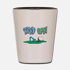 Tee'd Off Golf Design Shot Glass