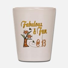 Floral 13th Shot Glass