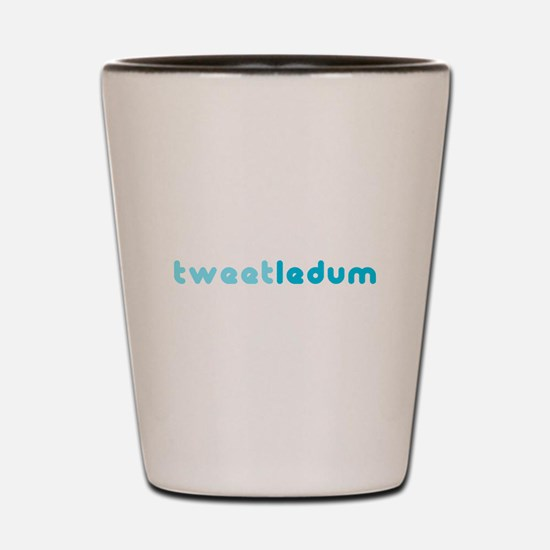 tweetledum Shot Glass