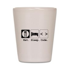 Eat. Sleep. Code. Shot Glass