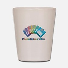 Floppy disks are Gay Shot Glass