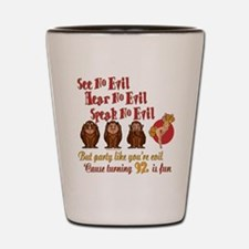 Party Girl 92nd Shot Glass