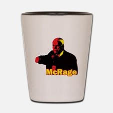 Funny Parody McCain McRage Te Shot Glass