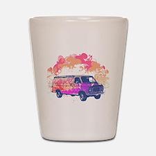 Retro Hippie Van Grunge Style Shot Glass