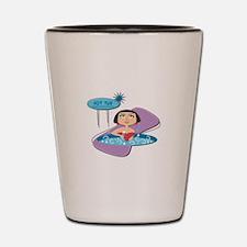 Retro Hot Tub Girl Shot Glass