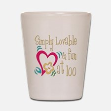 Lovable 100th Shot Glass