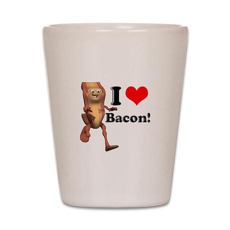 I Heart (Love) Bacon Shot Glass