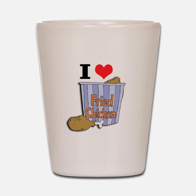 I Heart (Love) Fried Chicken Shot Glass