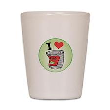I Love (Heart) Peas Shot Glass
