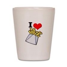 I Heart (love) French Fries Shot Glass