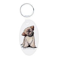 Curious Wheaten Puppy Keychains