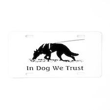 dogwetrust Aluminum License Plate