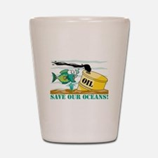 Save Our Oceans Shot Glass