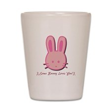 Breast Cancer Bunny Shot Glass