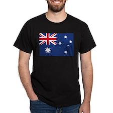 Australian Flag Black T-Shirt