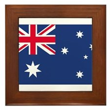 Australian Flag Framed Tile