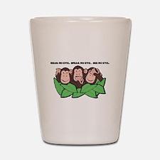 No Evil Monkeys Shot Glass