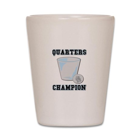 Quarters (Drinking Game) Shot Glass