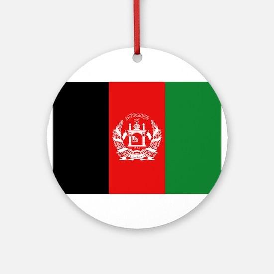 Afghan Flag Ornament (Round)