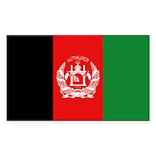 Afghan Flag Rectangle Decal