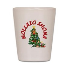 Irish Christmas Shot Glass