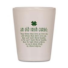 An Old irish curse Shot Glass