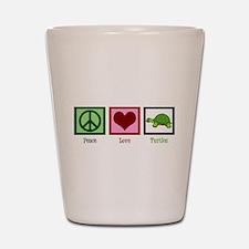 Peace Love Turtles Shot Glass