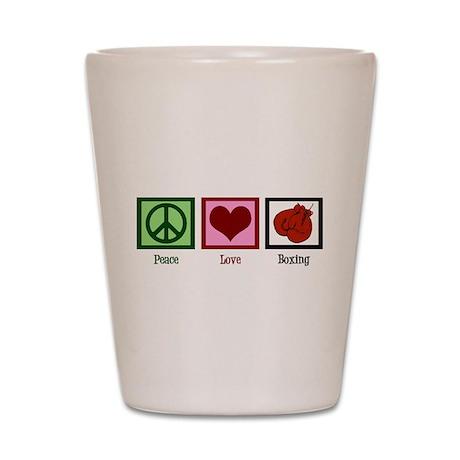Peace Love Boxing Shot Glass
