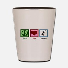Peace Love Lacrosse Shot Glass