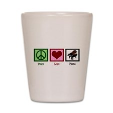 Peace Love Piano Shot Glass