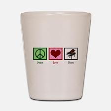 Peace Love Piano Shot Glass