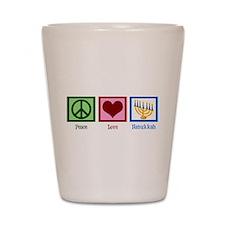 Peace Love Hanukkah Shot Glass