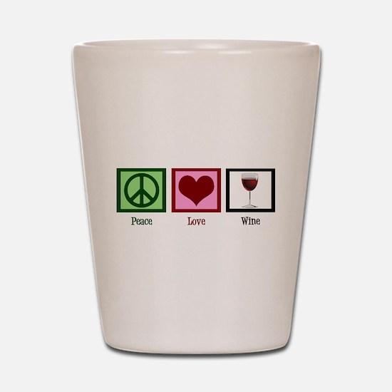 Peace Love Wine Shot Glass
