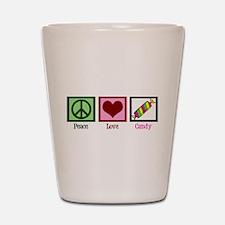 Peace Love Candy Shot Glass