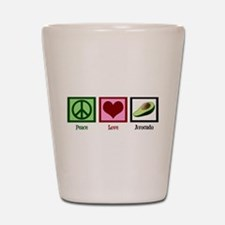 Peace Love Avocado Shot Glass
