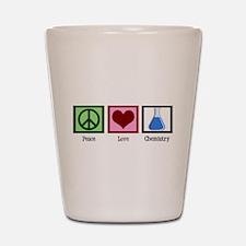 Peace Love Chemistry Shot Glass