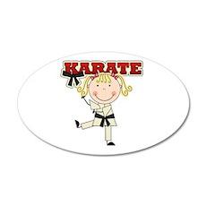 Blond Girl Karate Kid 22x14 Oval Wall Peel
