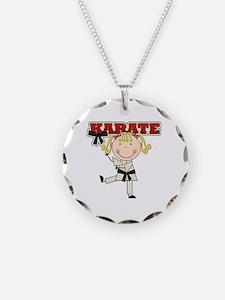 Blond Girl Karate Kid Necklace