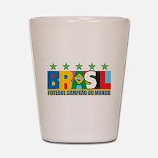 Brazilian World cup soccer Shot Glass