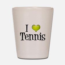 I Heart Tennis Shot Glass