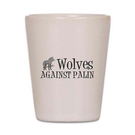 Wolves Against Palin Shot Glass