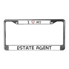 I Love Estate Agent License Plate Frame