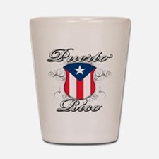 Puerto rican pride Shot Glass