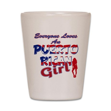 Puerto rican girl Shot Glass